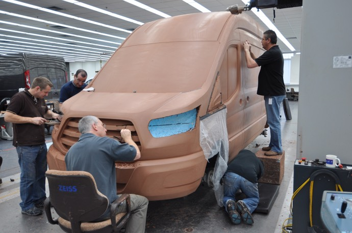 MK8 Ford UK design team modelling the all-new Ford Transit in the Dunton Technical Centre Design Studio 2 copy